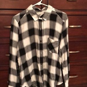 BP Black and White buffalo checked flannel